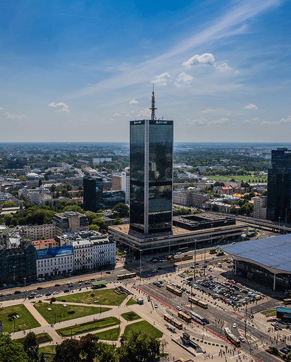Hotel Marriott Warsaw położony w sercu Warszawy