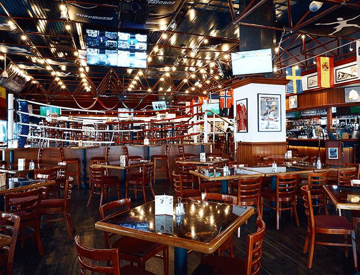 Legendarny bar sportowy w amerykańskim stylu.