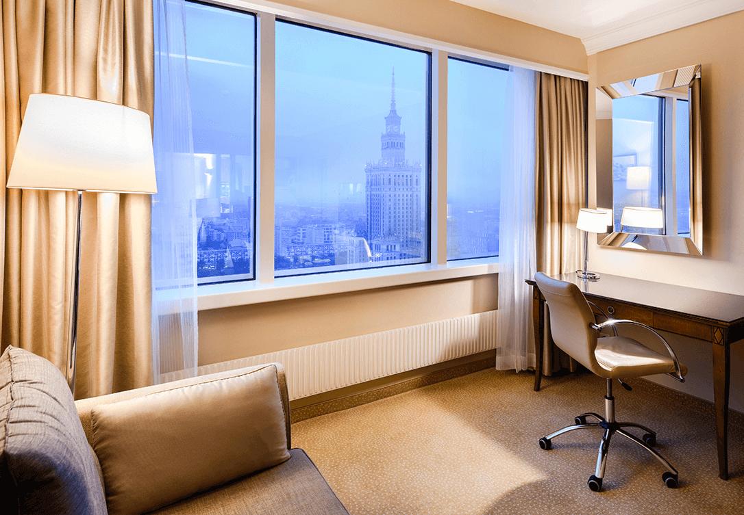 Corner Junior Suite w Marriott Warsaw Hotel
